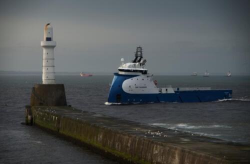South Breakwater. Aberdeen Harbour Entrance