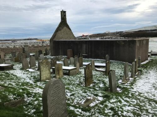 Remains of St Fittick's Church