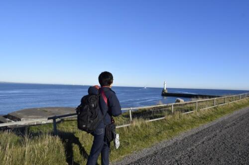 Walking towards the South Breakwater