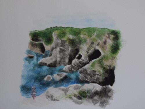 Nigg Cove Coastal TrailSTOP-7 - Sea Caves